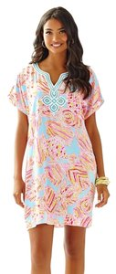 Lilly Pulitzer short dress Multi Harlow Tunic Blue Tini Bikini on Tradesy