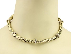 Fope Fope 1.50ct Diamonds 18k Yellow Gold Beaded Tube Necklace
