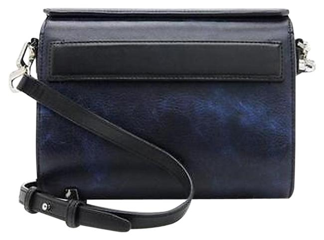 Item - Chasity Mini Marble Blue and Black Leather Cross Body Bag