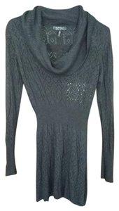 Buffalo David Bitton Knit Sheer Winter Sweater Delicate Dress