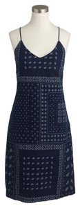 J.Crew short dress navy bandana on Tradesy