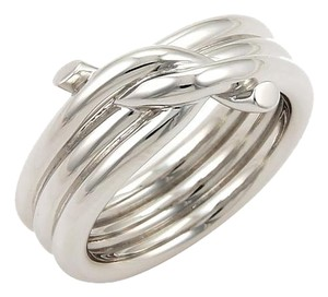Cartier Cartier Triple ENTRELACES 18k White Gold knot Ring