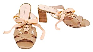Marc by Marc Jacobs Leather Taupe Patent Sandals