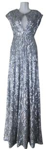Lisa Nieves Sequin Full Length A-line Night Out Prom Keyhole Evening Sleek Backless Ball Gown Dress