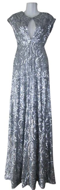 Lisa Nieves Sequin Full Length A-line Prom Dress