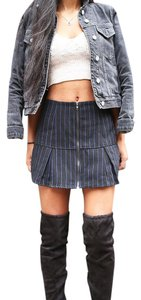 Lucca Couture Striped Mini Skirt Navy