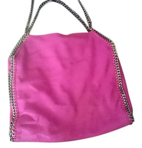 Stella McCartney Sustainable Suede Chain Tote in Fuchsia