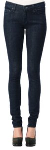 Rag & Bone Stretch Denim Pencil Leg Skinny Jeans-Dark Rinse