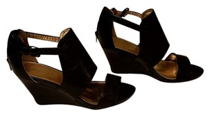 Lane Bryant Summer Wedge Open Toe Black Wedges