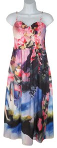 Maxi Dress by Anthropologie Corey Lynn Calter Watercolor Printed Romantic