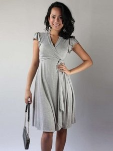 Everly Grey short dress Grey on Tradesy