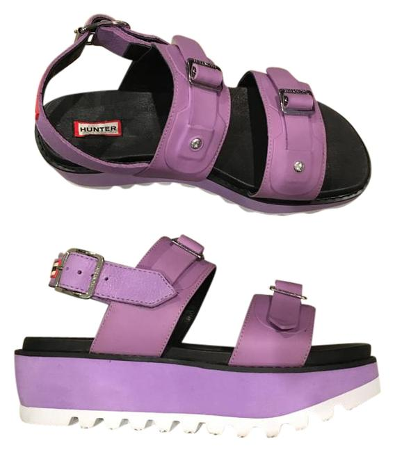 Item - Bright Lavendar Leather Mid Platform Sandals Size US 9 Regular (M, B)