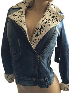 Guess Denim Lace Womens Jean Jacket