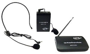 Microphone Wireless Microphone w/ Headset for Weddings or DJ