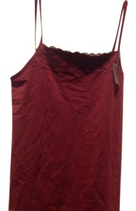 The Limited Rich Color With Lace Panel Brand New Top Burgundy