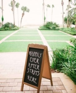 Chalkboard Double-sided Rustic Sign Reception Decoration