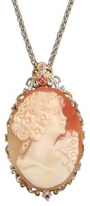STUNNING - Sterling vermeil Cameo necklace