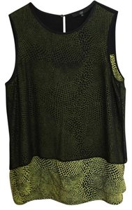 Tibi Top Black/Green/Yellow
