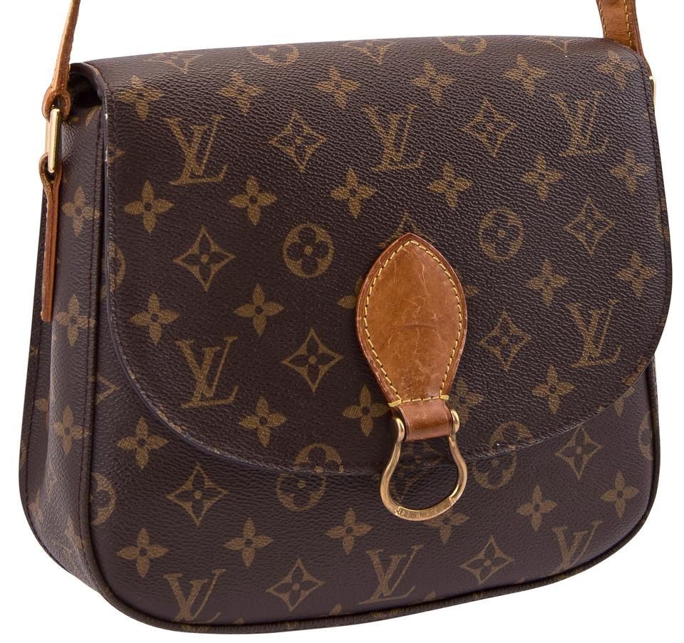 954ac254e38b Louis Vuitton Saint Cloud Gm Large Monogram Shoulder Brown Leather   Coated  Canvas Cross Body Bag