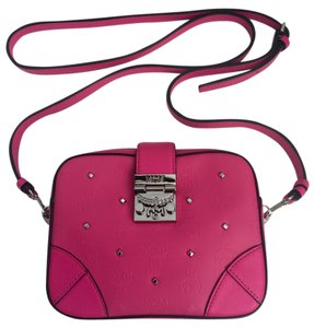 MCM Pink Studded Cross Body Bag