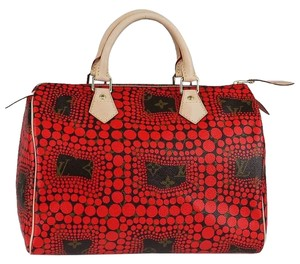 Louis Vuitton Kusama Limited Edition Satchel in Red