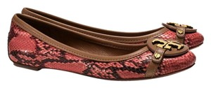 Tory Burch Aaden Tan/Orange/Pink Flats