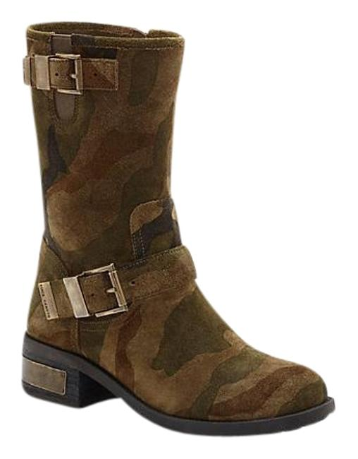 Item - Olive/Multi-color/Camo Women's Walda Motorcycle Multi Suede Boots/Booties Size US 6.5 Regular (M, B)