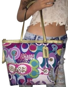Coach Tote in Multi colors