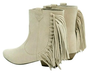 Zara Leather Ankle Boho beige Boots