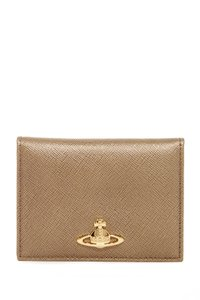 Vivienne Westwood Gold Leather Card Holder Wallet