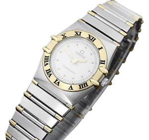 Omega Omega Ladies Constellation Mini 22mm Watch, White Dial, 18K Gold & SS