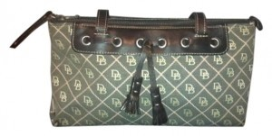 Dooney & Bourke Fabric Quilted Tote in Brown and Pink