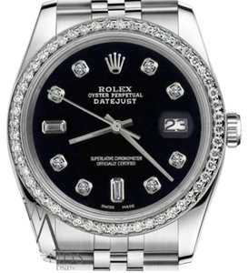 Rolex Ladies Rolex 31mm Datejust Black Color Dial with Diamond Accent Watch