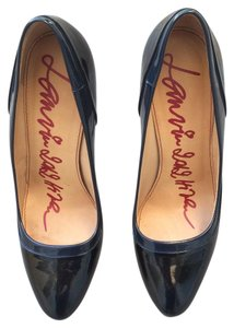 Lanvin Patent Heels Black + Navy Pumps