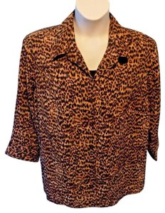 Kim Rogers Plus Size Set Twofer Top Brown