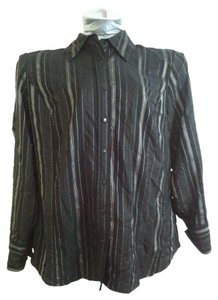 East 5th Essentials Plus Size Casual Cotton Button Down Shirt Black