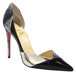 Christian Louboutin Red Bottoms Glitter Black Pumps