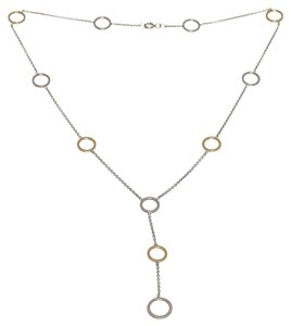 Tiffany & Co. Tiffany & Co. Silver and Gold Circle Dangling Necklace