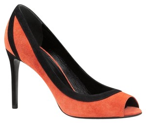 Gucci Gucci; 347291; Dark Orange Black 6560 Pumps