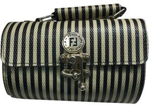Fendi Black And White Clutch
