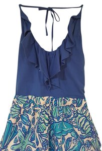 Lilly Pulitzer short dress BLue Print Sun Day on Tradesy