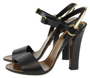 Gucci Lifford Leather Heel Black 1000 Pumps