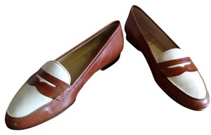 Etienne Aigner Tan and ivory Flats