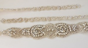 Alysson Bridal Wedding Dress Rhinestone Crystal Embellished Belt Sash