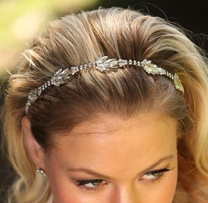 Zara Rhinestone Headband Diamond Leaves Headwrap Wedding Hair Accessory Crystal Headband Leaves Halo