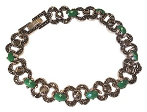 Other Bohemian Vintage Style Silver plated Bracelet Emerald Green