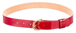 Louis Vuitton Pomme d'Amour monogram Vernis Louis Vuitton LV belt S Small