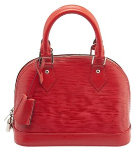 Louis Vuitton Lv Epi Leather Crossbody Satchel in Red
