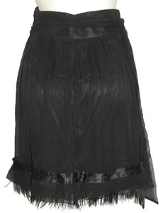 Elie Tahari Silk Feathers Cocktail Skirt black