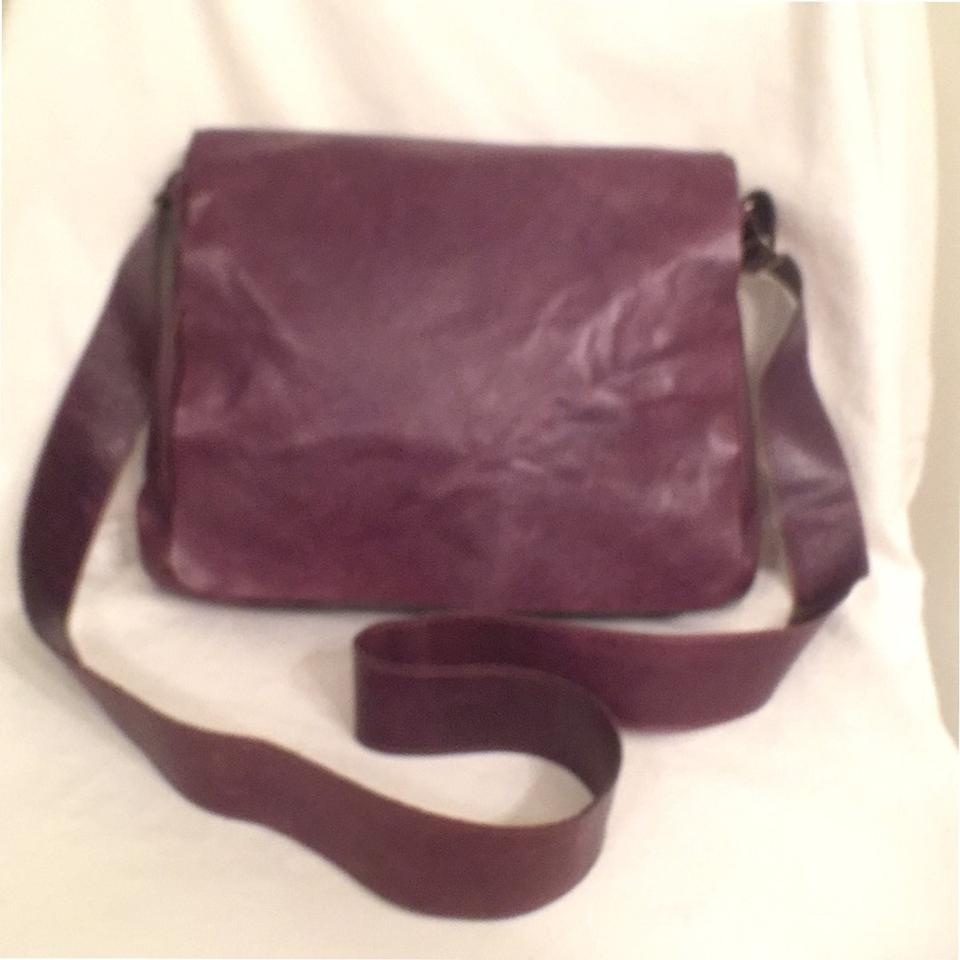 M0851 Distressed Leather Purse Cross Body Shoulder Hobo Handbag Purple Messenger Bag